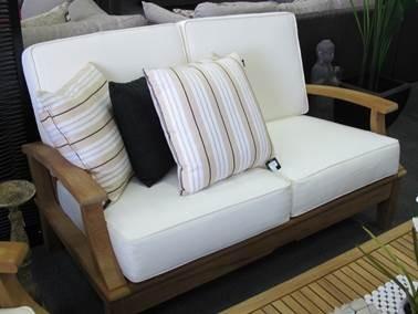 leblon lounges leblon raffles teak cushion 2 seater sofa 1852